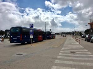 parcheggio autobus piazzale dell'aeroporto