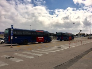 Bus stop at Alghero airport