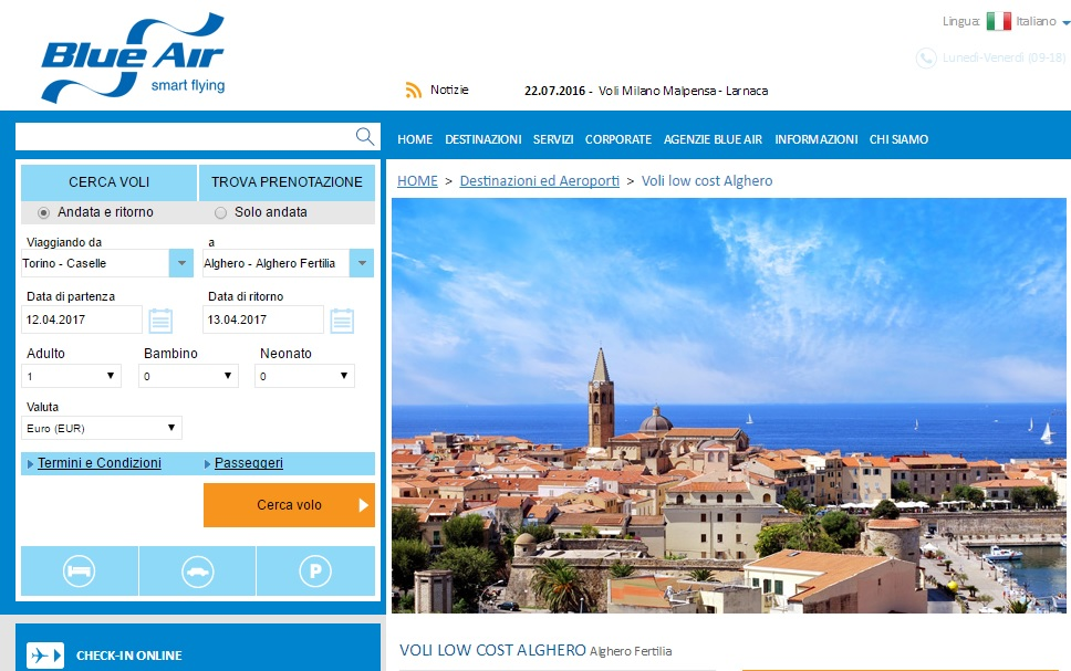 Volo Alghero-Torino