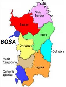 Mappa Sardegna Bosa