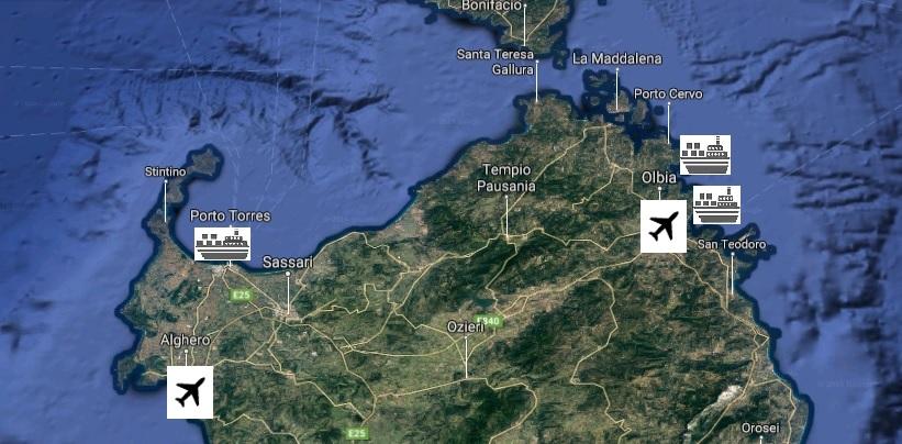 Cartina Sardegna Con Aeroporti.Nord Sardegna Cosa Vedere Nel Nord Sardegna Blualghero Sardinia