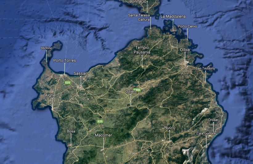 Cartina Sardegna Porto Torres.Nord Sardegna Cosa Vedere Nel Nord Sardegna Blualghero Sardinia