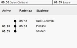 Linea Ozieri-Chilivani Sassari
