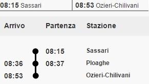 Linea Sassari Ozieri-Chilivani