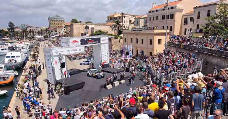 Rally d'Italia Sardegna Premiazione porto di Alghero