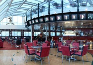 Ferry boat Moby Lines dining area