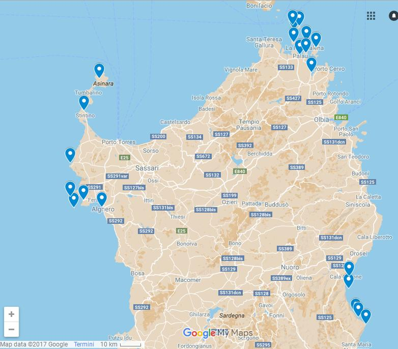 Sardinia boat itineraries