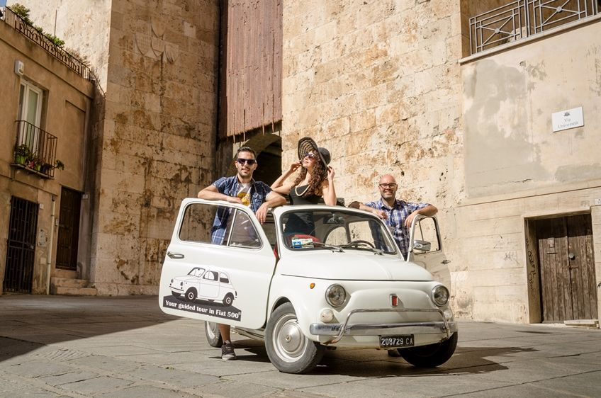 Cagliari – Scenic Tour by Vintage Fiat 500