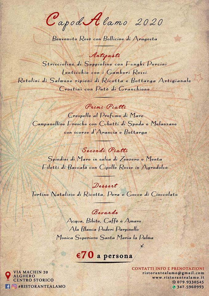 Capodanno Alghero - Ristorante Alamo
