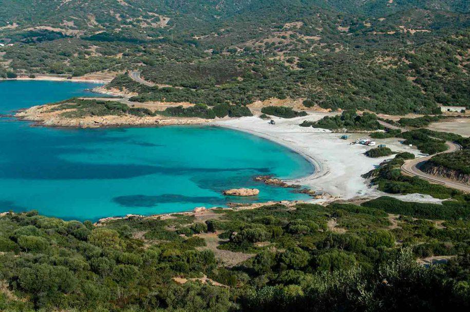 Strada panoramica sud Sardegna Chia-Teulada